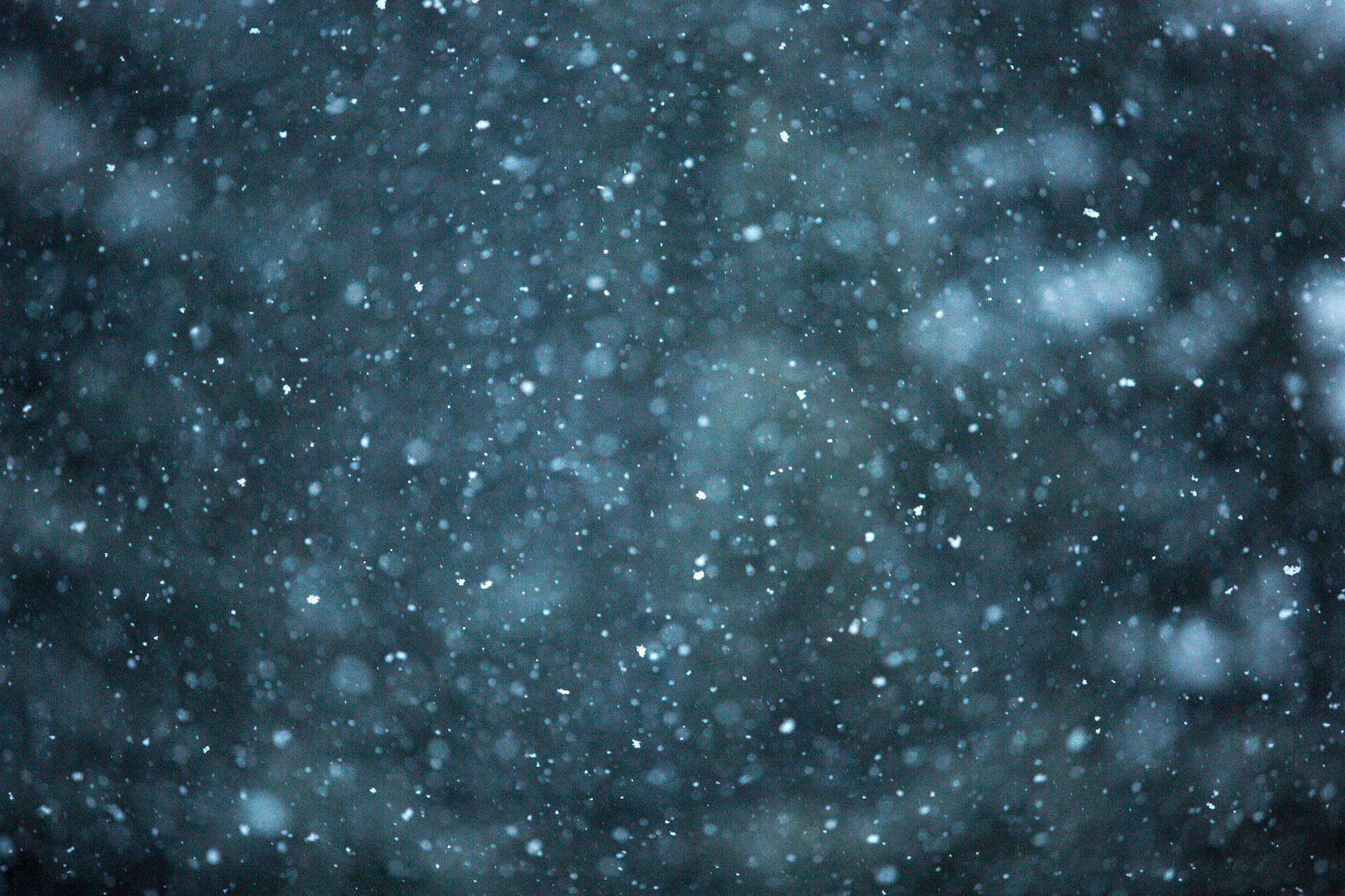 Snowfall in Killington, Vermont